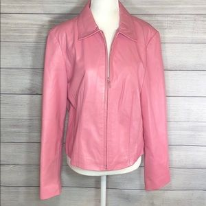 Clothes by Revue - Pink Lamb Leather Jacket - EUC!